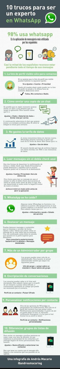 10 trucos para ser un experto en Whatsapp - http://conecta2.cat/10-trucos-para-ser-un-experto-en-whatsapp/ @Conecta2cat