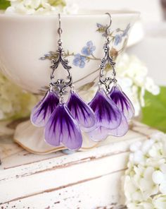 The real mallow flowers Pressed Flower Petal от BotanicaJewelry