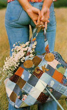 bags during the 70's were different too. women liked patched bags during that time. it was a DIY thing during that. normally made with their old clothes cut and made into bags.
