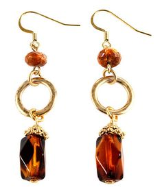 Take a look at this Tortoise & Gold Drop Earrings by Majestic on #zulily today!