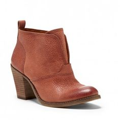Women's Toffee Leather 3 Inch Leather Bootie   Ehllen by Lucky Brand