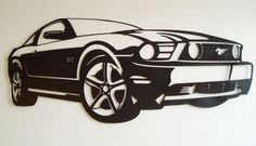 Ford Mustang Metal Wall Art on Etsy, $165.00