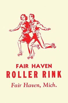Stickers were issued by roller rinks across the United States. Many were stock designs imprinted with the local skating facility. This was for the Fair Haven Roller Rink, in Fair Haven, Michigan. Roller Skating Rink, Roller Rink, Roller Disco, Advertising Ads, Vintage Advertisements, Vintage Ads, Roller Skating Pictures, Fair Haven, Vintage Magazine