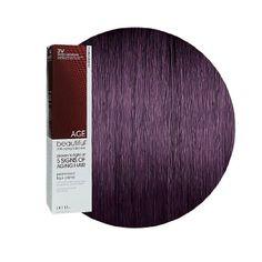 Amazon.com: AGEbeautiful Anti-Aging Permanent Liqui-Crème Haircolor 3V Darkest Plum Brown: Beauty