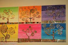 les arbres en arts visuels en maternelle | la manière de Gustave Klimt - Webécoles - Pont-de-Chéruy