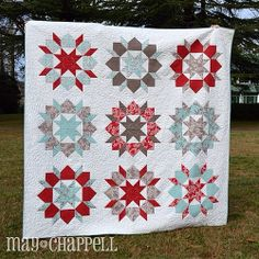Winter Swoon!! Quilting by the amazing Gina Boone! More pictures on my blog!! Pattern by @thimbleblossoms. Fabric by @kateandbirdie.