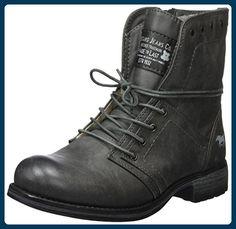 Mustang Damen 1139-610 Biker Boots, Grau (20 Dunkelgrau), 40 EU - Stiefel für frauen (*Partner-Link)