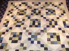Another lovely Jacob's Ladder quilt