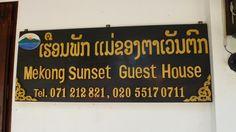Guest House Mekon Sunset. #LuangPrabang #Laos