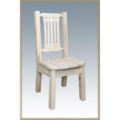 Montana Woodworks Homestead Natural Side Chair No Upholstery Log Furniture, Woodworking Furniture, White Furniture, Fine Woodworking, Online Furniture, Woodworking Projects, Woodworking Books, Woodworking Classes, Wooden Dining Chairs