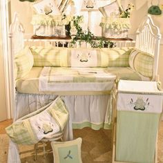 Brandee Danielle Ribbit Crib Bedding Collection  -For my baby Kphrogg Prince