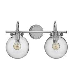Hinkley Lighting Congress 2 Light Bath in Chrome 50024CM #hinkley #hinkleylighting #lightingnewyork #outdoorlighting #lighting
