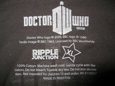 IMG_0823 - Dr Who Wondercon 2011 T-Shirt (inside tag), via Flickr.