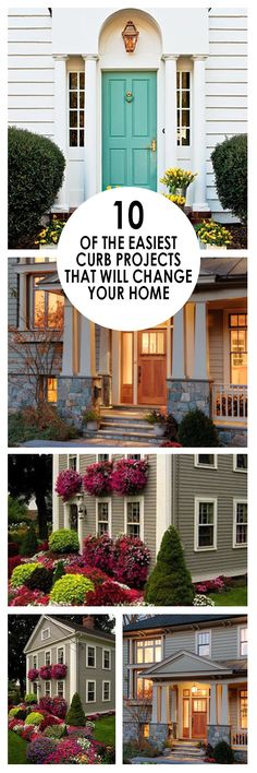 Curb appeal projects, DIY home improvement, home projects, DIY curb appeal, popular pins, home decor, DIY landscaping, easy home improvement.