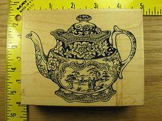 PSX Staffordshire Teapot K1986 Rubber Stamp 920   eBay