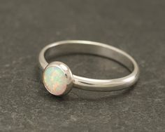 Hey, I found this really awesome Etsy listing at https://www.etsy.com/listing/72628008/opal-ring-silver-opal-ring-simple-modern