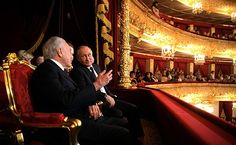President of Russia Vladimir Putin and President of Brazil Michel Temer attended a performance by winners of the XIII International Ballet Competition and Contest of Choreographers at the State Academic Bolshoi Theatre.