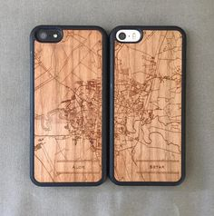 Check out how Alice created the perfect anniversary gift for her parents: a pair of phone cases that form a map of their home town https://jace.design/blog @jacedotdesign jacedotdesign#gift #giftguide #uniquegift #map #cartography #phonecase #wood #woodcase #iphone #galaxy #beautiful