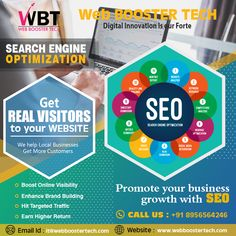 web booster tech is a website designing, web development and best digital marketing company in india providing services as per business need. Professional Seo Services, Best Digital Marketing Company, Seo Strategy, New Opportunities, Search Engine Optimization, Improve Yourself, Trust, Web Design, Tech