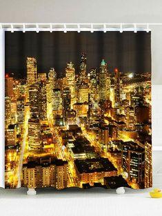 Window Treatments & Hardware Reasonable 3d City Night View 8 Shower Curtain Waterproof Fiber Bathroom Windows Toilet Bath
