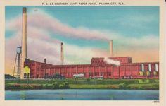Panama City Florida Southern Kraft Paper by postcardsofthepast