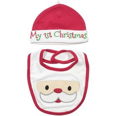 Amazon.com: Lovespun Baby Perfect Picture 2 Piece Hat and Bib Set, MYST Christmas, 0-12 Months: Clothing featuring polyvore