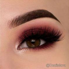 Maroon Smokey Eye @denitslava ♡♥♡♥♡♥