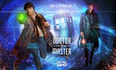 SherDoc - Doctor Who / Sherlock mashup fanart, with Benedict Cumberbatch as The Doctor and Andrew Scott as The Master