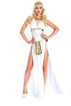 Halloween Ladies Cleopatra Goddess Roman Egyptian Fancy Dresses Cosplay Costume