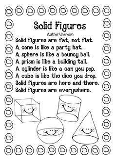 Free printable 3D shape worksheet to color (scroll down