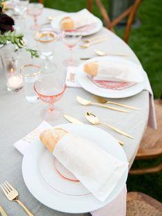 Wedding table settings!