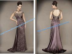 Vestidos De Festa 2015 New Arrival Lace Sexy Backless Elegant Long Evening Dresses Floor Length Formal Evening Gown