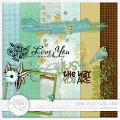 The Way You Are mini kit freebie from Design by Heather T.