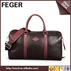 Top Quality Brand Genuine Leather Business Travel Bag For Men Mens Travel Bag, Business Travel, Gym Bag, Leather, Top, Bags, Stuff To Buy, Handbags, Mens Overnight Bag