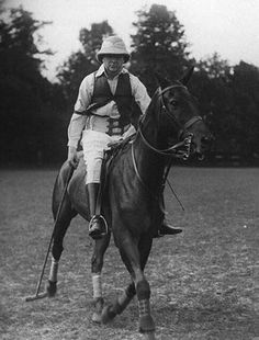 Sir Winston Spencer Churchill after a polo match in England 1909