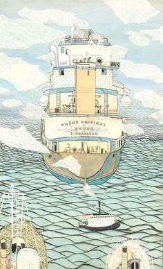 Ships by Victoria Semykina, via Behance