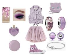 Lavander by sara-ioana-moldoveanu on Polyvore featuring polyvore, interior, interiors, interior design, home, home decor, interior decorating, Abercrombie & Fitch, Olympia Le-Tan, Converse, Patricia Chang, Pandora, Casetify, Vera Wang and Essie