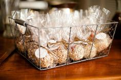 """candy apple favors...a sweet way to say """"thank you""""!"""