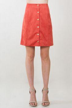 Rusty Suede Skirt