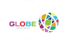 Abstract earth logo. Globe logo icon by Vector-Stock @creativework247
