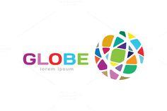 Abstract earth logo. Globe logo icon by Vector-Stock @creativework247