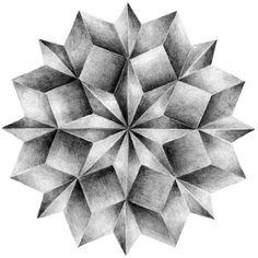 Leslie David is a french graphic designer and illustrator. David's portfolio is a true source of inspiration. Mandala Art, Geometric Mandala, Geometric Drawing, Geometric Designs, Geometric Shapes, 3d Art Drawing, Pencil Art Drawings, Geometry Art, Sacred Geometry