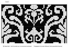 Жаккардовые схемы в стиле барокко. Обсуждение на LiveInternet - Российский Сервис Онлайн-Дневников chart 1