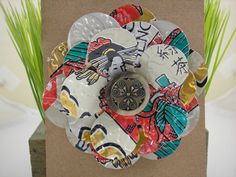 Brooch made from recycled soda cans