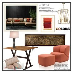 """""""MIX & MATCH!!!"""" by kskafida ❤ liked on Polyvore featuring interior, interiors, interior design, home, home decor, interior decorating, Hudson Valley Lighting, Biltmore and Wendover Art Group"""