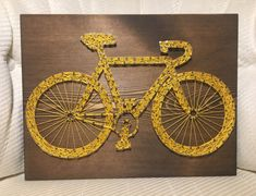 CUSTOM Bicycle String Art Sign Bike Art by KiwiStrings on Etsy