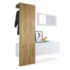 Dcor Design, Interior Design, Hallway Unit, Entryway Coat Rack, Small Hallways, Wall Mounted Coat Rack, Oak Color, Hanging Storage, Hazelwood Home