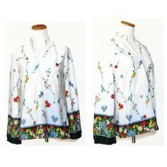 Boho Blouse / Boho Top / Floral Boho Blouse / Hippie Blouse / Hippie Top / 70s Blouse / 70s Top / Oversize Blouse / Hippie Tunic Shirt by GoodLuxeVintage on Etsy