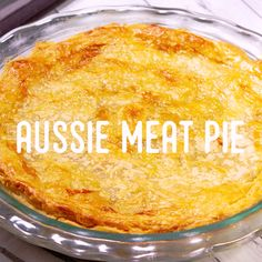 Once you try this meat pie you will never want to buy another. Mini Pie Recipes, Mince Recipes, Puff Pastry Recipes, Easy Cake Recipes, Cooking Recipes, Curry Recipes, Aussie Pie, Australian Meat Pie, Aussie Food