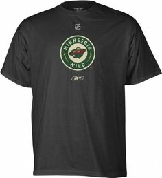 NHL Reebok Minnesota Wild Black Primary Logo T-shirt by Reebok. $19.95. Officially licensed by the NHL. Comfortable 100% cotton is easy to wash, easy to wear. Even summer is hockey season when you wear this cool cotton Minnesota Wild T-Shirt. Features large screen printed primary team logo on chest to boldly proclaim your loyalty.